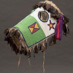 Fully-beaded horse mask. Blackfoot-Kainai, Canada, ca. 1870. Paul Dyck Plains Indian Buffalo Culture Collection. NA.403.221