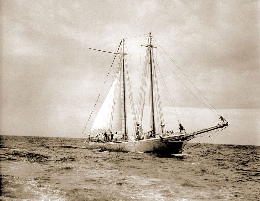 Schooner Morrissey. Harold McCracken expedition photo exhibition. N322#A1012V