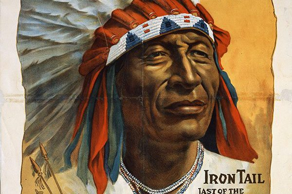 A Treasure from Our West: Chief Iron Tail poster. 1.69.50