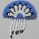 A Treasure from Our West: Beaded pin. NA.502.47.4