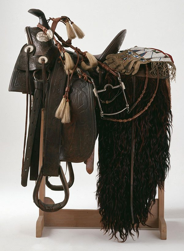 Collin & Morrison double-rigged saddle, 1893. Museum purchase, William Cody Boal Collection. 1.69.45