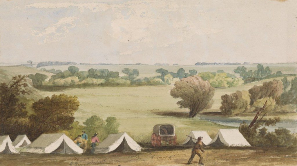 Figure 2. Maple River, 1854-1855. Watercolor with graphite underdrawing. Yale University Art Gallery, New Haven, Connecticut; gift of Paul Mellon, B.A. 1929, L.H.D.H. 1967, Collection (1982.39.5A)