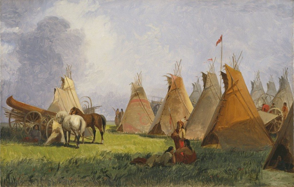 Figure 4. Camp of the Red River Hunters; 1857; Oil on canvas; Amon Carter Museum of American Art, Fort Worth, Texas (1966.52)