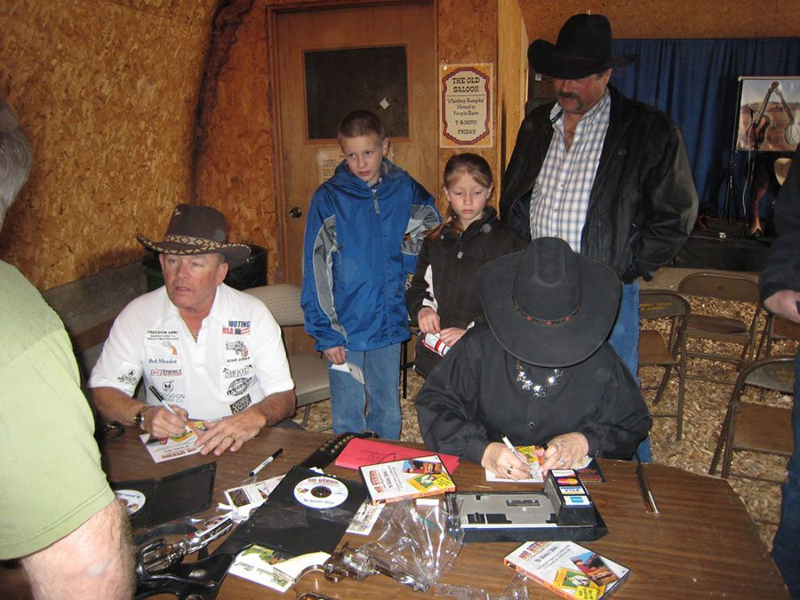 2007: Signing Autographs at the Winter Fair Sport Show in Montana