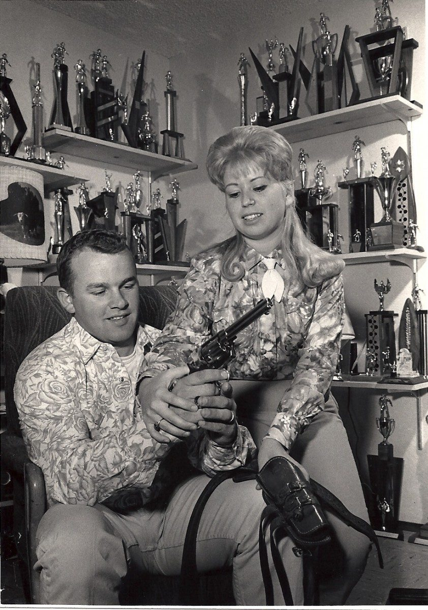 Bob And Becky Trophies 1966. Newspaper Photo
