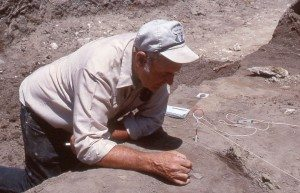 Dr. George Frison in the field.