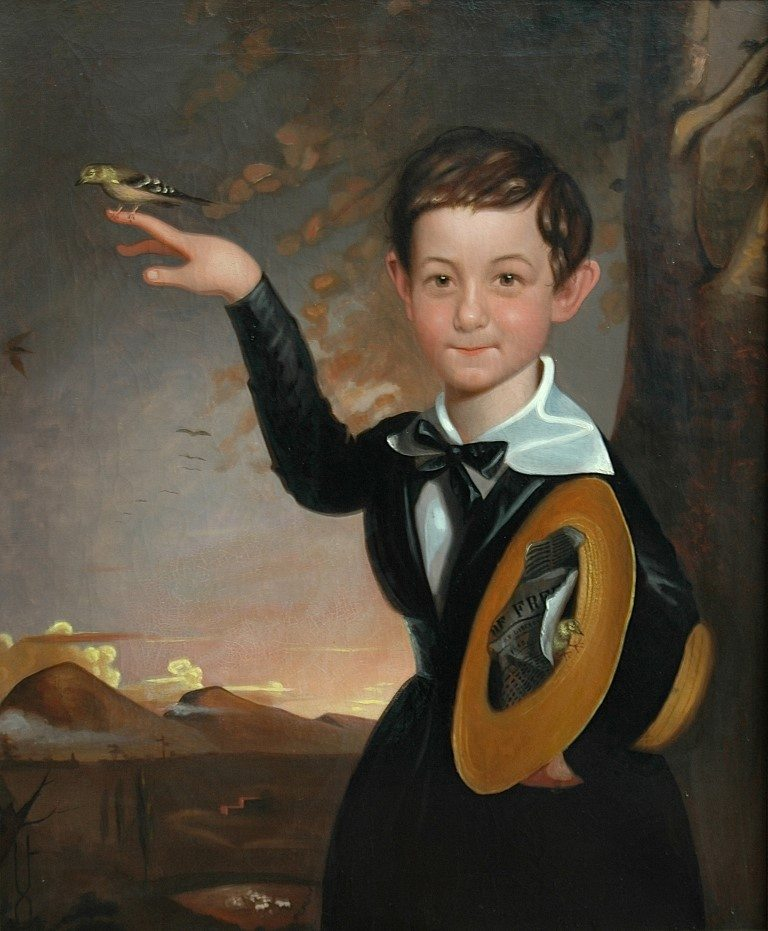 Figure 5. John Mix Stanley. Boy With Birds, ca. 1846. OIl on canvas. Private collection, Salt Lake City, Utah.