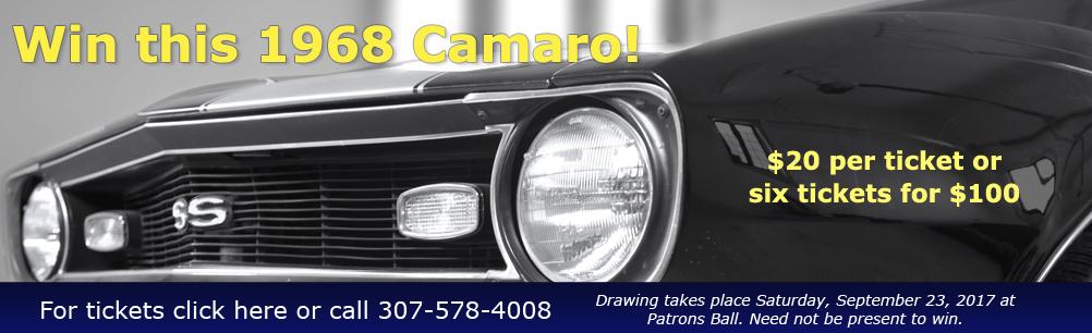 Win a 1968 Camaro in our raffle