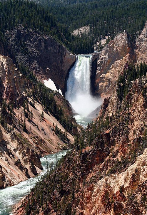 Lower Falls of the Yellowstone, 2013. Nancy McClure photograph.