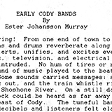 Essay on the early musical bands of Cody, Wyoming.