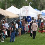 Some forty vendor booths offer Native art, jewelry, and more for sale at the Buffalo Bill Center of the West's annual Plains Indian Museum Powwow.