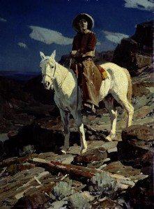 "Frank Tenny Johnson's ""Down the Moonlit Trail"""