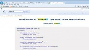 Archon McCracken Home Page-Buffalo Bill Search-Collections