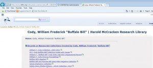 Archon McCracken Home Page-Cody, William F. Search