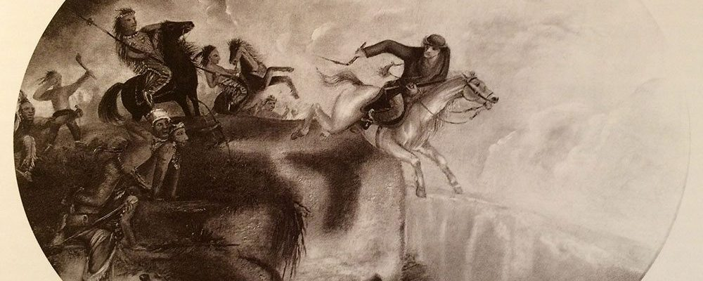 Unknown artist. McCullough's Leap, after 1852. Oil on canvas, 24.875 x 29.5 in. Gift of Edgar William and Bernice Chrysler Garbisch. 10.77