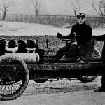 Henry Ford and Barney Oldfield with race car, 1902. Image courtesy of Dearborn Historical Museum, Dearborn Michigan.
