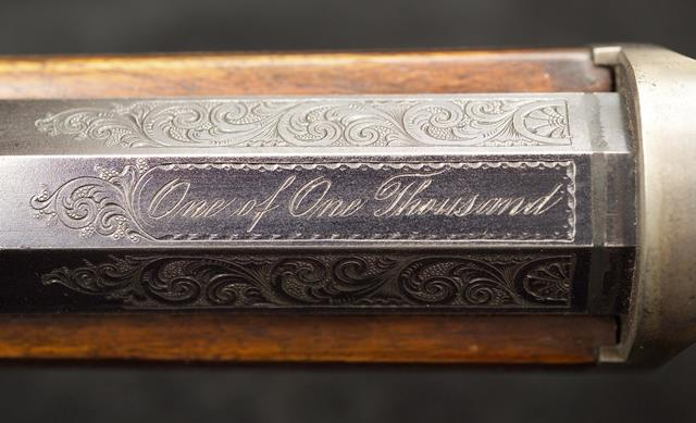 1988.8.192 Winchester 1873 1 of 1000 breech markings