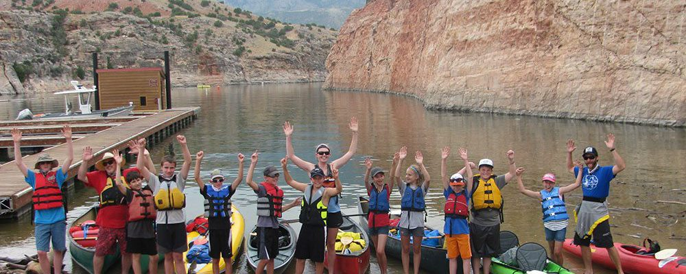 Last summer's H-2-Oh! Participants at Bighorn Canyon National Recreation Area.