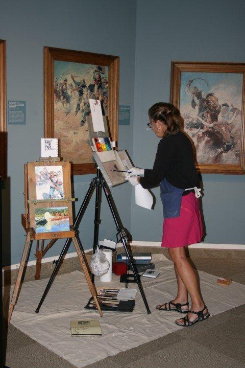 Whitney Western Art Museum artist-in-residence Michele Z. Farrier.