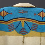 "Detail, Northern Plains dress with glass ""seed beads."" The Paul Dyck Plains Indian Buffalo Culture Collection, NA.202.1265."