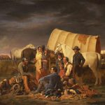 William Tylee Ranney (1813–1857). The Prairie Burial, 1848. Oil on canvas: 28.5 x 41 in. Gift of Mrs. J. Maxwell Moran. 3.97