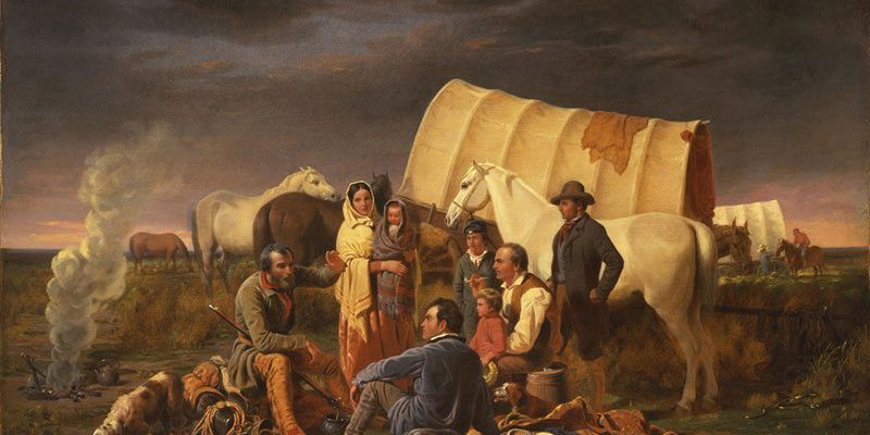 William Tylee Ranney (1813 – 1857). The Prairie Burial, 1848. Oil on canvas: 28.5 x 41 in. Gift of Mrs. J. Maxwell Moran. 3.97