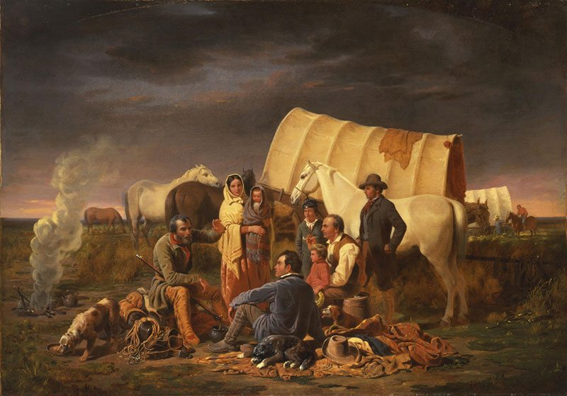 William Tylee Ranney (1813-1857). Advice on the Prairie, 1853. Oil on canvas: 38.75 x 55.25 in. Gift of Mrs. J. Maxwell Moran. 10.91