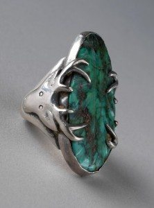 Stag Ring, Southwest, 1954. Gift of Jo and Warren Buxton, Phoenix, Arizona. NA.203.1049.2
