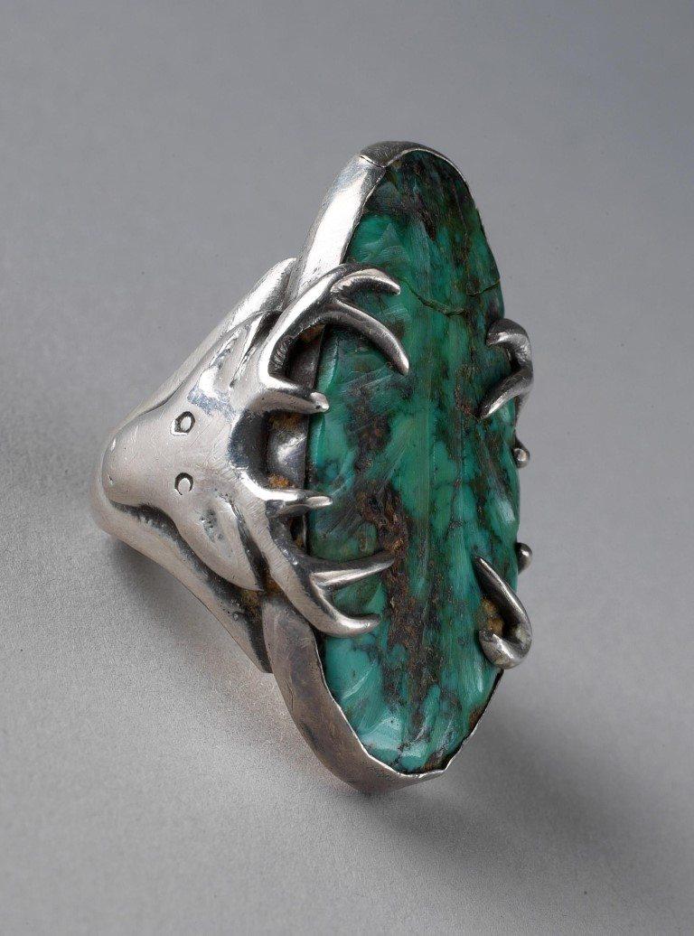 Stag Ring, Southwest, 1954. Gift of Jo and Warren Buxton, Phoenix, Arizona. NA.203.1049.2