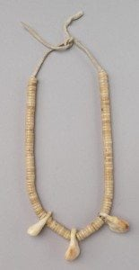Cheyenne Necklace with shell beads and elk ivories, ca. 1900. NA.203.24