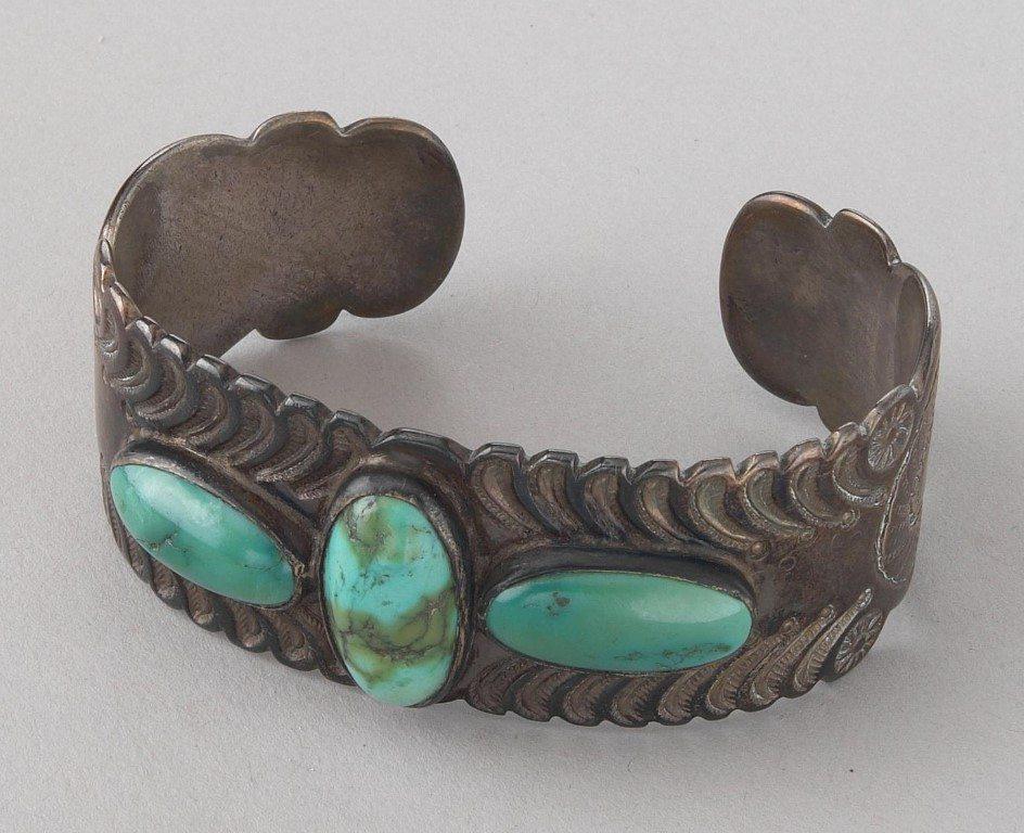 Navajo Bracelet, ca. 1940s, Gift of Mrs. Frank D. Oastler. NA.203.293