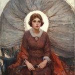 "W.H.D. Koerner (1878 – 1938). ""Madonna of the Prairie,"" 1921. Oil on canvas, 37 x 28.75 inches. Museum Purchase. 25.77"