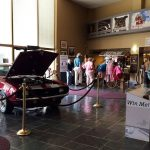 Our two raffle prizes forThis year's raffles, a car and a shotgun, grace our front lobby.