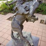 """""""Spirit of Wyoming"""" by Edward Fraughton. Outdoor sculpture at the Center of the West. L.13.2001.1"""