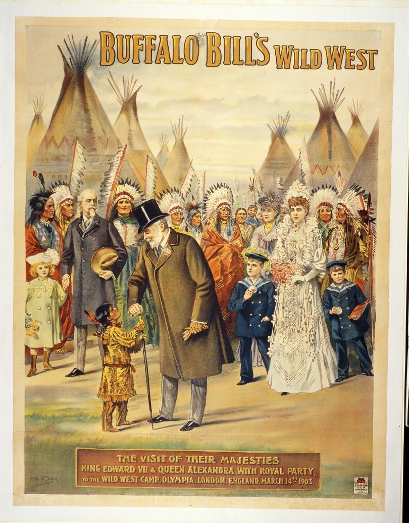 Poster, Buffalo Bill's Wild West in London, 1904. 1.69.2164
