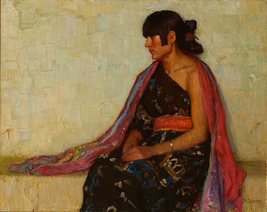 """A Treasure from Our West: """"Crucita"""" by Joseph Henry Sharp. 25.65"""