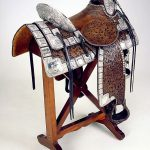 A Treasure from Our West: Mission saddle. Gift of H. Peter Kriendler and his brothers Mac and Bob Kriendler. 1.69.376A