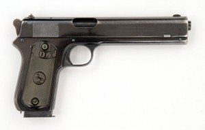 Colt Model 1902 Sporting [Semi-]Automatic pistol, .38 caliber. 2012.9.1
