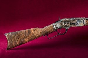 Centennial Rifle, detail of stock