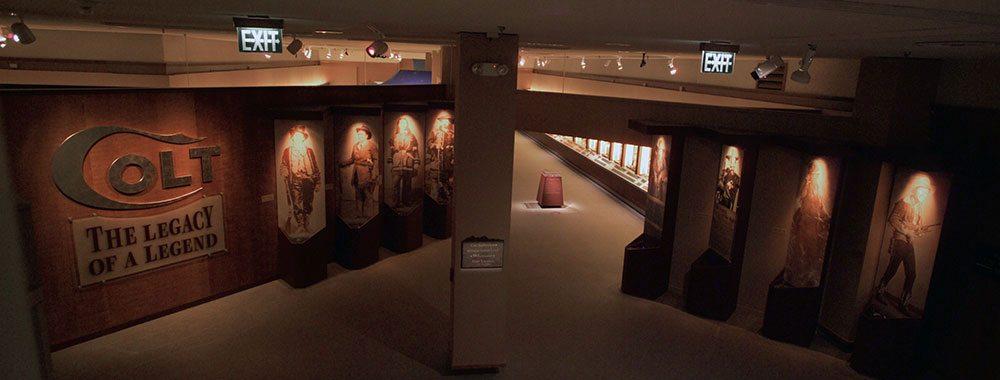"Entrance to the 2003 special exhibition ""Colt: The Legacy of a Legend"" in the Special Exhibitions Gallery of the Buffalo Bill Center of the West."