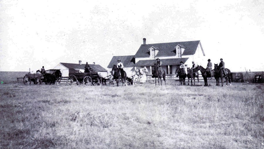 "N.C. Wyeth (1882-1945). ""Hashknife Ranch,"" October 1904. Photograph courtesy Colorado Historical Society. F26,282"