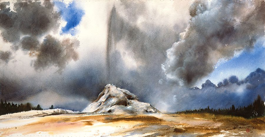 "William Matthews's ""Thermal Spigot, Yellowstone,"" 1998. Gift of the Jeannette and H. Peter Kriendler Charitable Trust. 7.98"