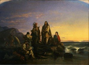 "John Mix Stanley (1814 – 1872). ""The Last of Their Race,"" 1857. Oil on canvas. Museum Purchase. 5.75."