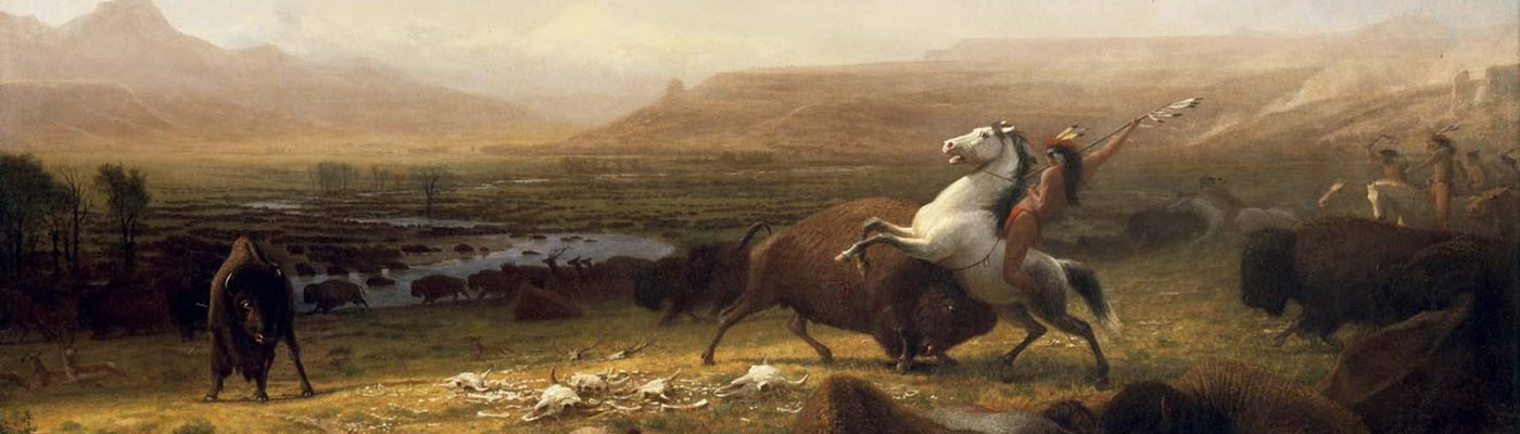 Albert Bierstadt's Last of the Buffalo (detail). 2.60