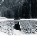 Corkscrew Bridge, Sylvan Pass, ca. 1920. F.J. Hiscock, photographer.