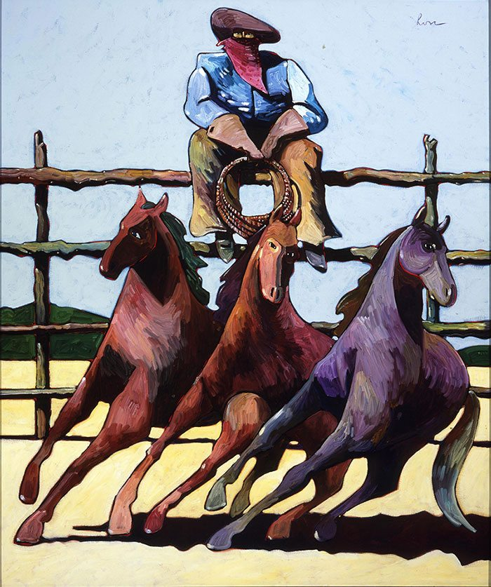 "Thom Ross (b. 1953 ). ""The Virginian,"" 2001. Acrylic. Gift of the artist. 11.02"