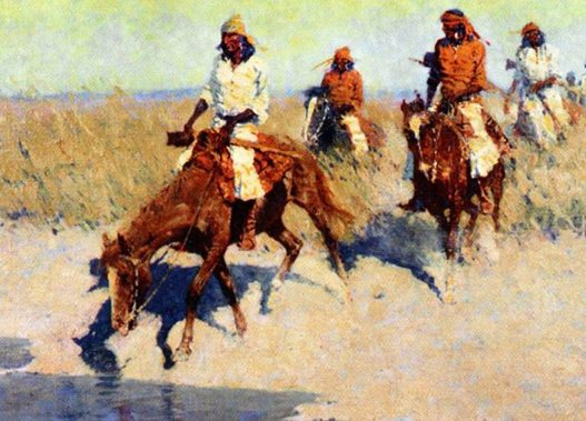 Figure 15. Frederic Remington (1861-1909). Pool in the Desert, 1907 – 1908. Oil on canvas. Private Collection (CR# 02824)