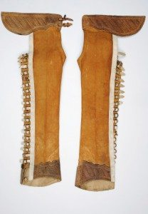 Figure 10b. Mexican leather chaps. Remington Studio Collection. Collection of the Buffalo Bill Center of the West