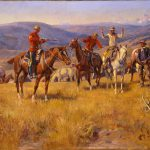 """A Treasure from Our West: """"When Law Dulls the Edge of Chance"""" by Charles M. Russell. 28.78"""