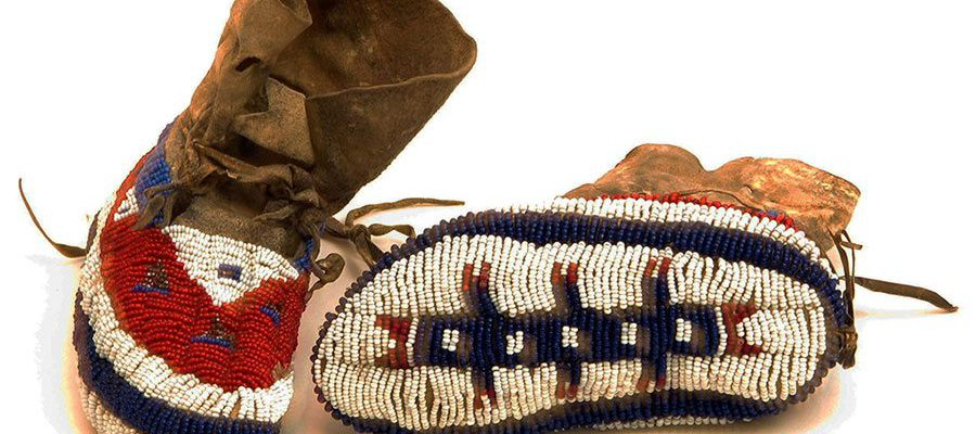 A Treasure from Our West: Child's beaded moccasins, Cheyenne. NA.202.1373